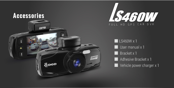 LS430W High Definition GPS Car DVR